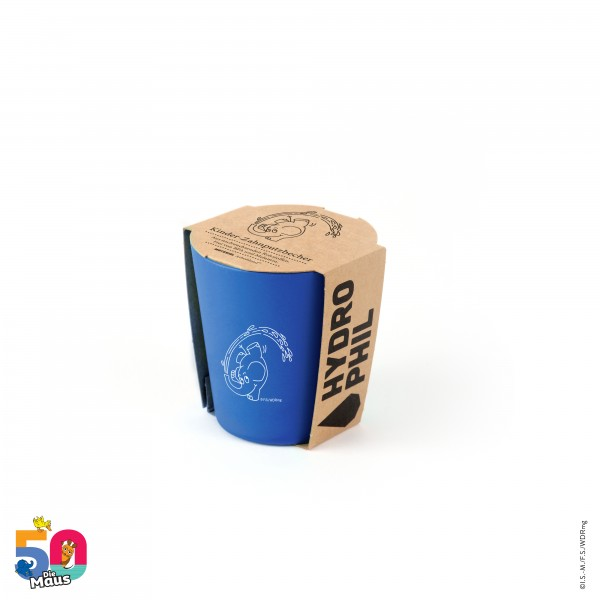 HYDROPHIL Kinder Zahnputzbecher Elefant blau aus Arboblend® BPA-frei melaminfrei 250 ml